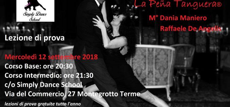Corsi di Tango Argentino – Lezione di prova – Mercoledì 14 settembre 2018 ore 20:30