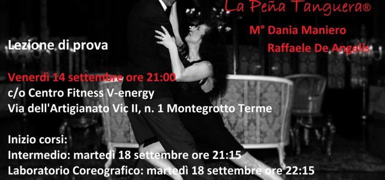 Corsi di Tango Argentino – Lezione di prova – Venerdì 14 settembre 2018 ore 21:00