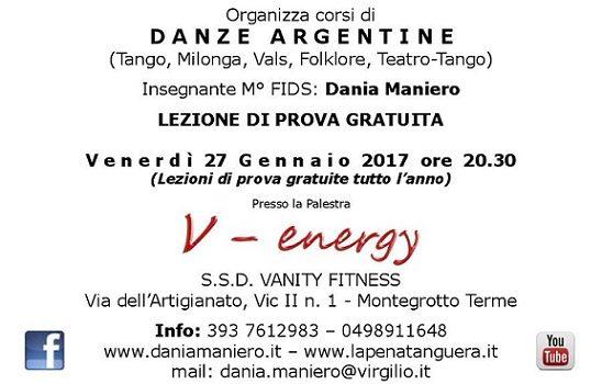 Nuovo Corso Base di Tango Argentino – Lezione di prova gratuita venerdì 27 gennaio 2017